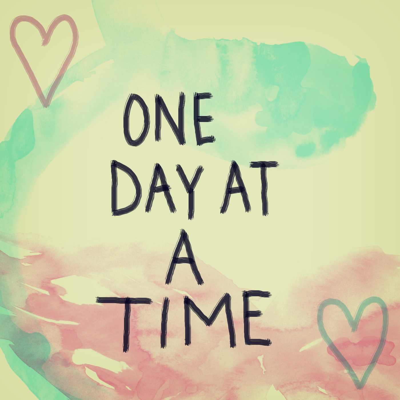one day at a time | soletshangout.com