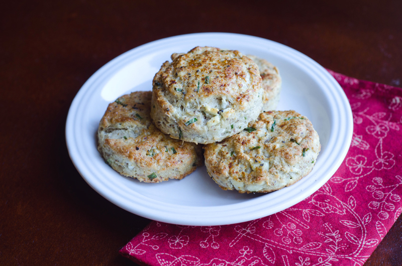 Feta, Chive & Greek Yogurt Biscuits | Gluten Free // So...Let's Hang Out