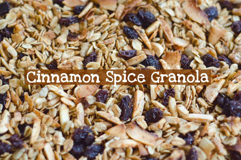Cinnamon Spice Granola | Gluten Free // So... Let's Hang Out
