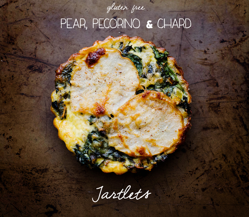 Pear, Pecorino & Chard Tartlets | Gluten Free // So...Let's Hang Out