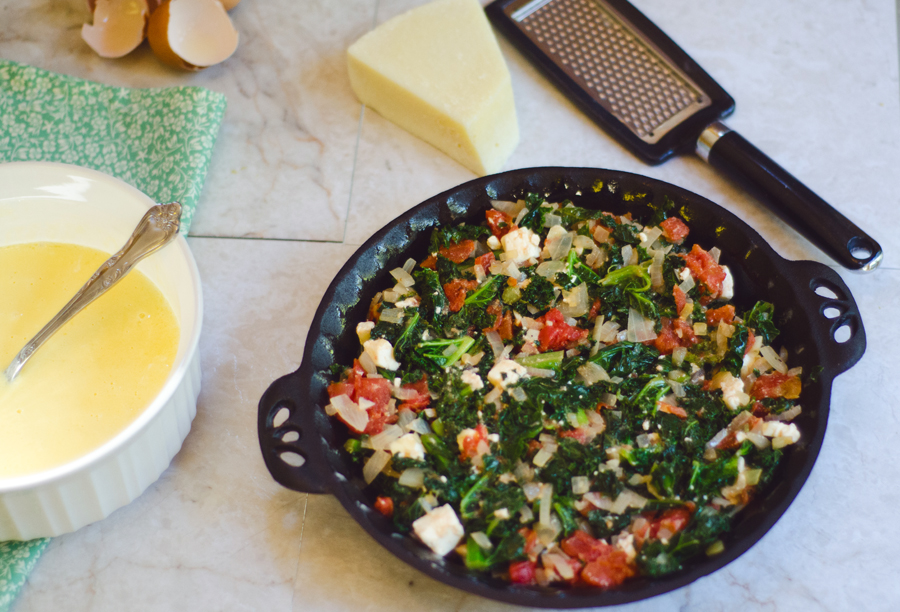 Crustless Kale & Feta Quiche With Greek Yogurt | So... Let's Hang Out