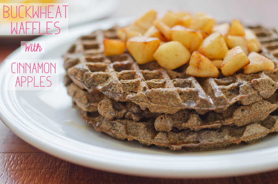 Buckwheat Waffle With Cinnamon Apples | Gluten Free // So...Let's Hang Out