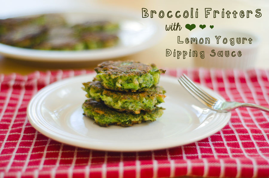 Broccoli Fritters With Lemon Yogurt Dipping Sauce | So...Let's Hang Out