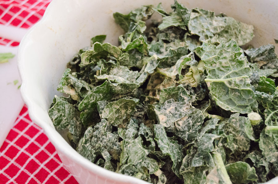 Raw Kale Salad With Creamy Almond Dressing   So... Let's Hang Out