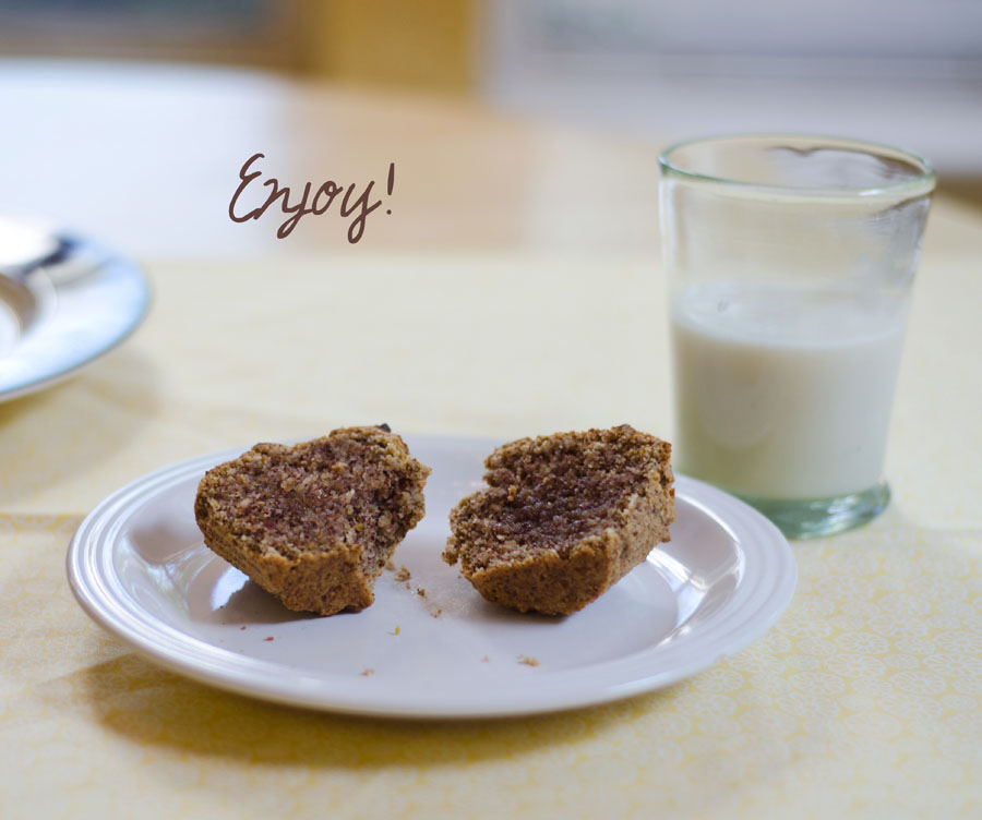 Lemon & Chamomile Paleo Muffins