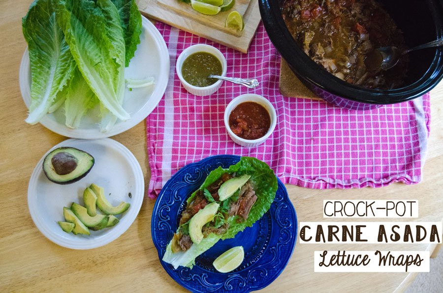 Crock-Pot Carne Asada Lettuce Wraps | So...Let's Hang Out