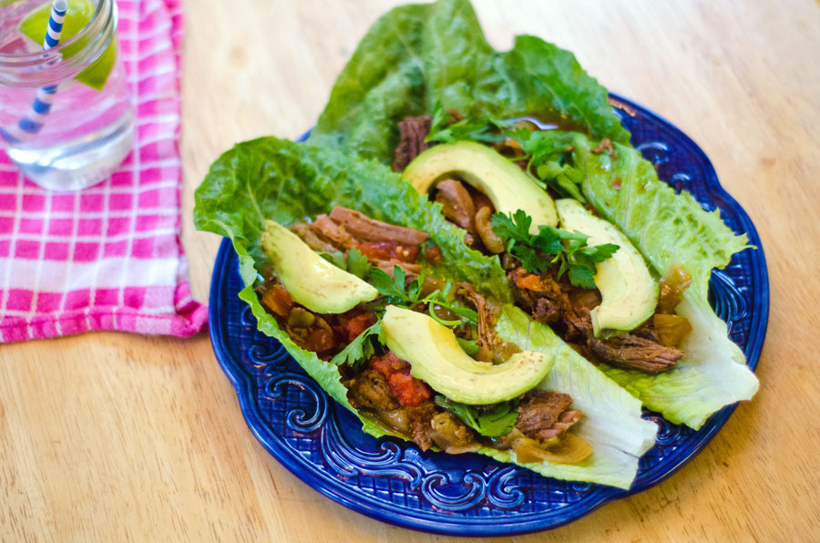 Crock-Pot Carne Asada Lettuce Wraps | So...Let's Hang Out