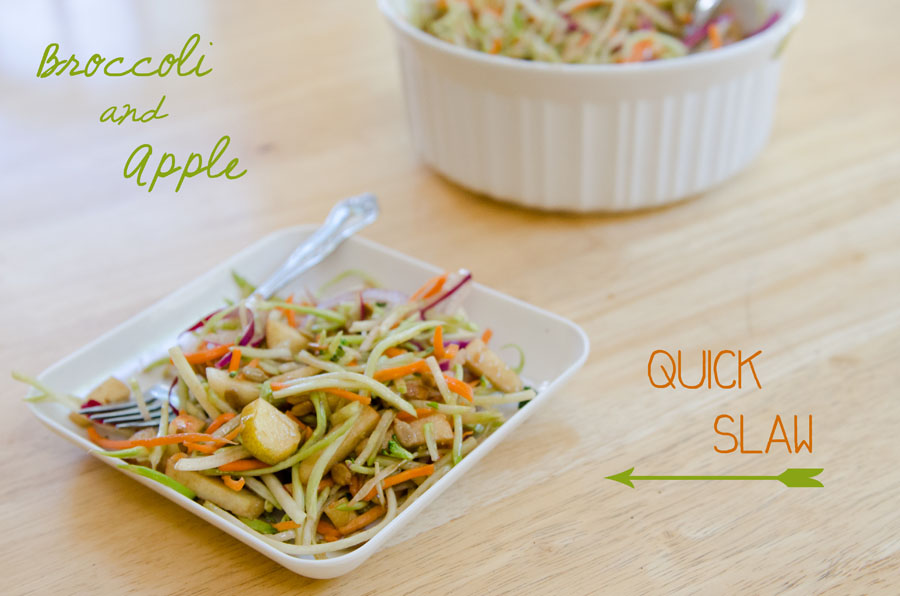 Broccoli & Apple Quick Slaw | So...Let's Hang Out