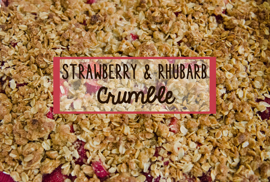 Strawberry & Rhubarb Crumble | Gluten-Free //So...Let's Hang Out