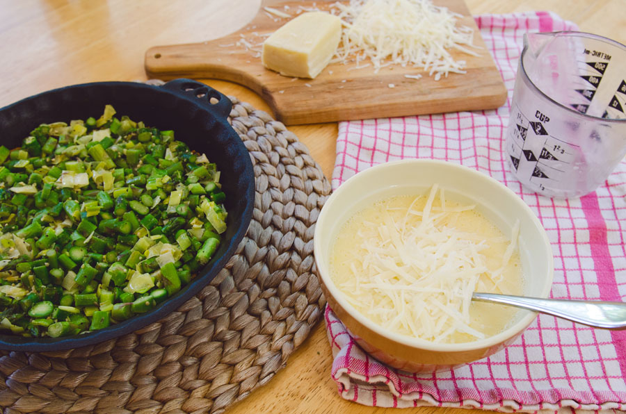 Leek and Asparagus Quiche With Almond Meal Crust | Gluten Free // So...Let's Hang Out