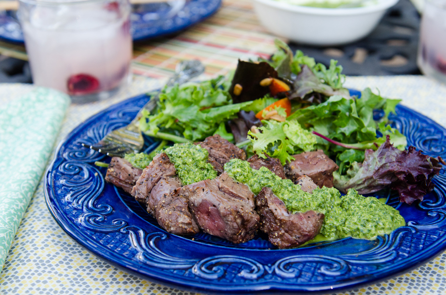 Easy Beef Kebabs With Tangy Rosemary Chimichurri | So...Let's Hang Out