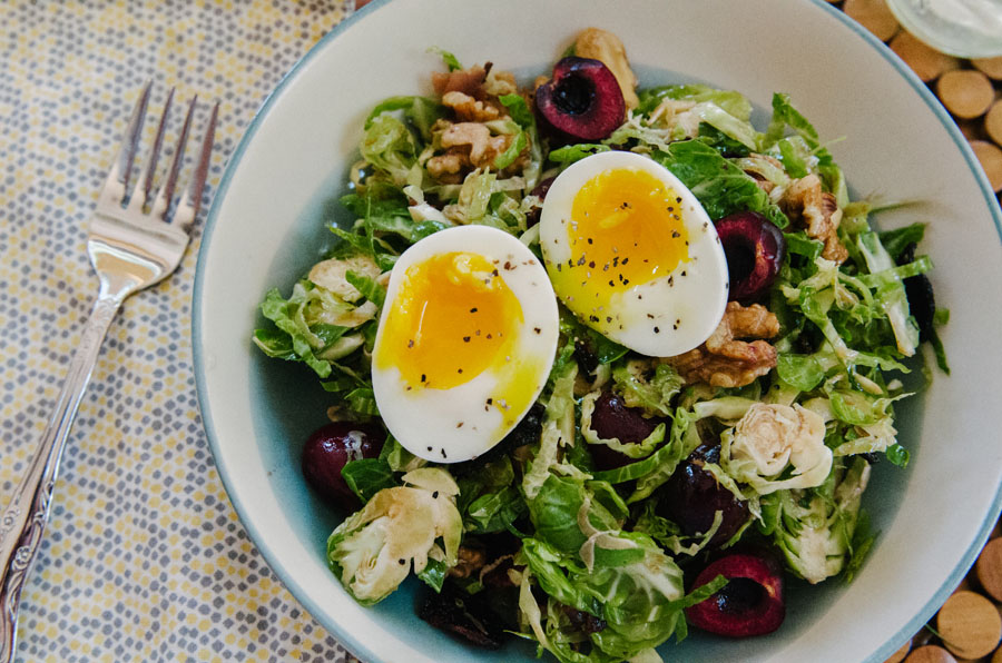 Brussels Sprout Salad With Walnuts, Cherries & Bacon   So...Let's Hang Out