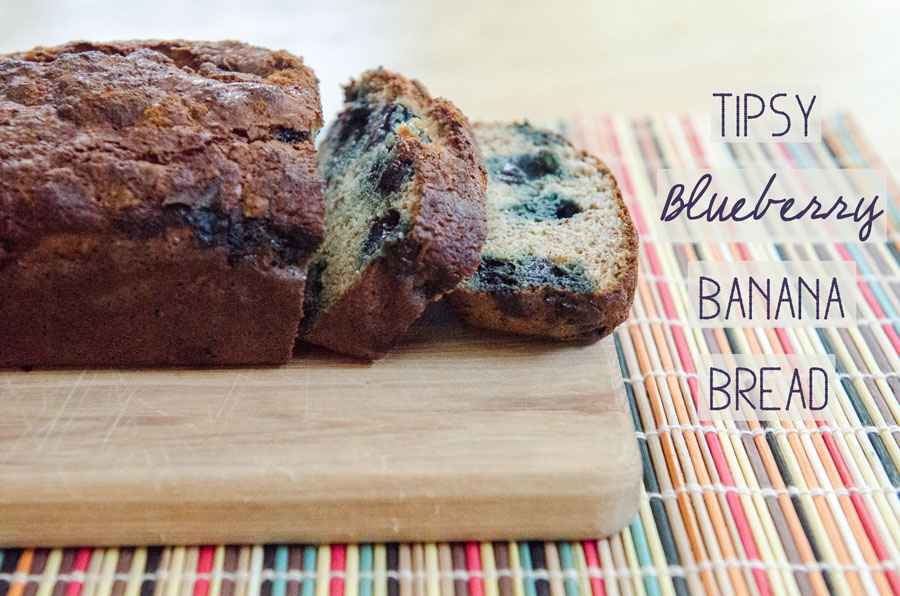 Tipsy Blueberry Banana Bread {Gluten-Free & Paleo} | So...Let's Hang Out