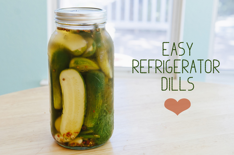 Easy Refrigerator Dill Pickles | So...Let's Hang Out