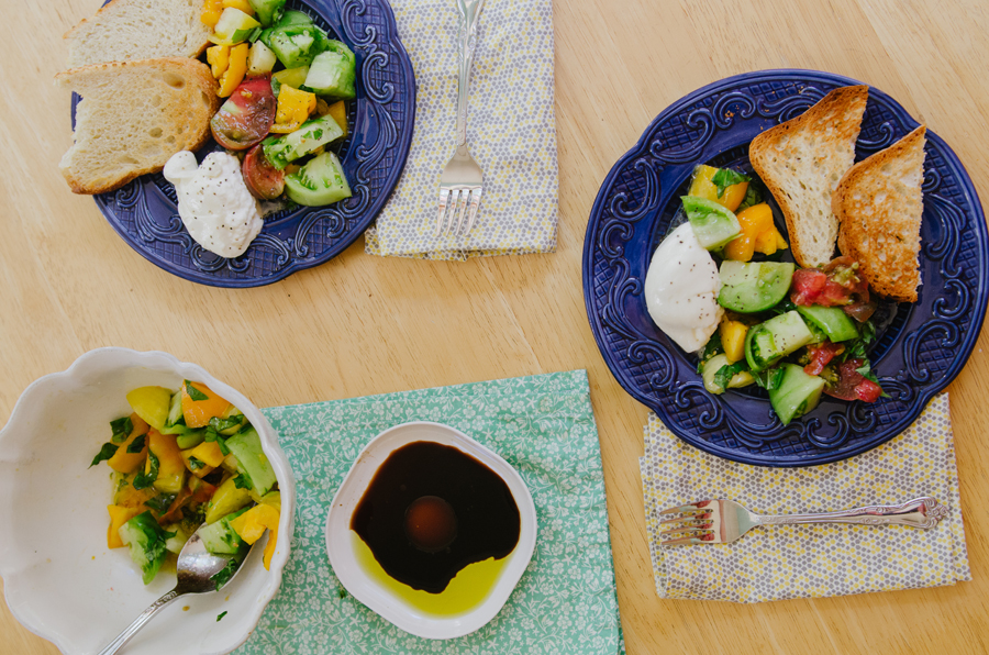 Simple Heirloom Tomato & Burrata Salad | So...Let's Hang Out