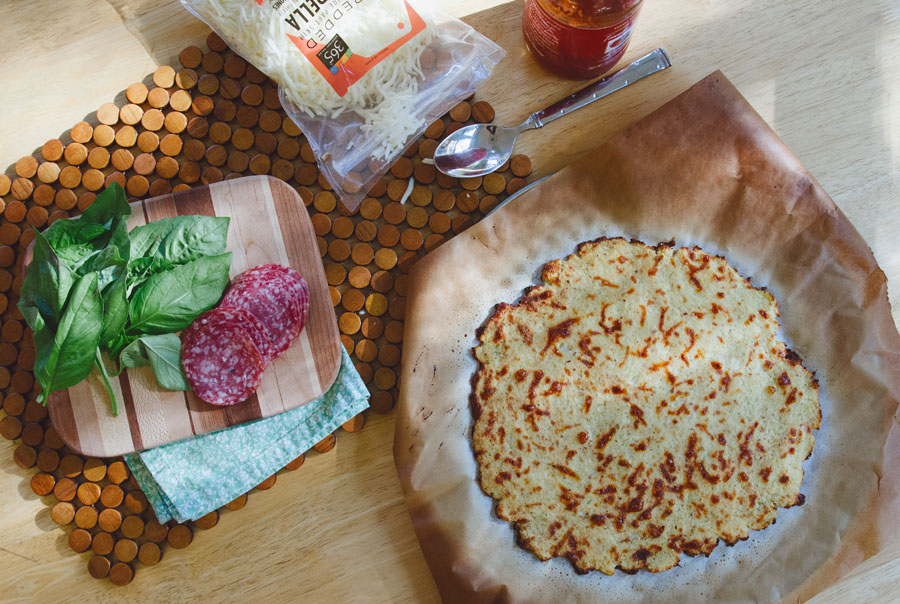 How To Make An AWESOME Cauliflower Pizza Crust! | soletshangout.com