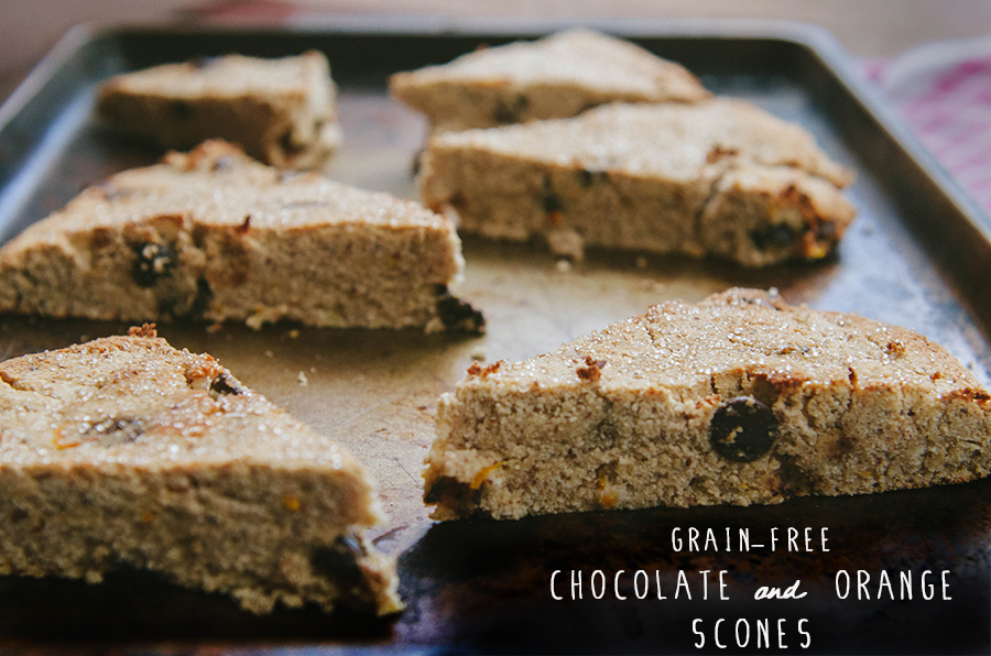 Grain-Free Orange & Chocolate Scones | soletshangout.com