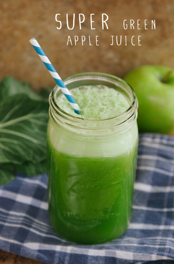 SUPER Green Apple Juice // soletshangout.com