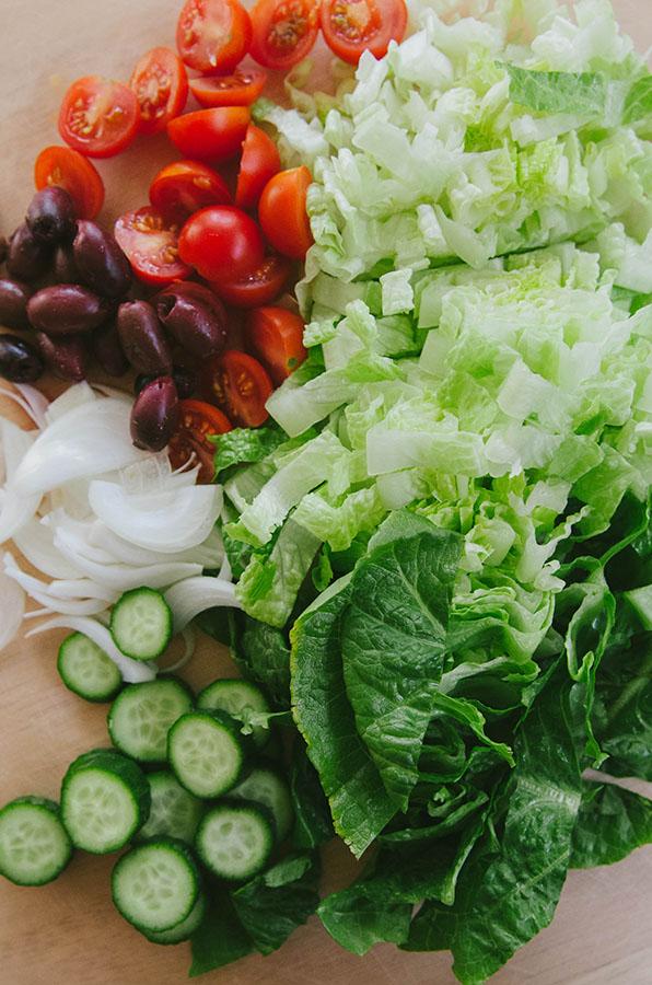 Greek Salad-Stuffed Sweet Potatoes| soletshangout.com
