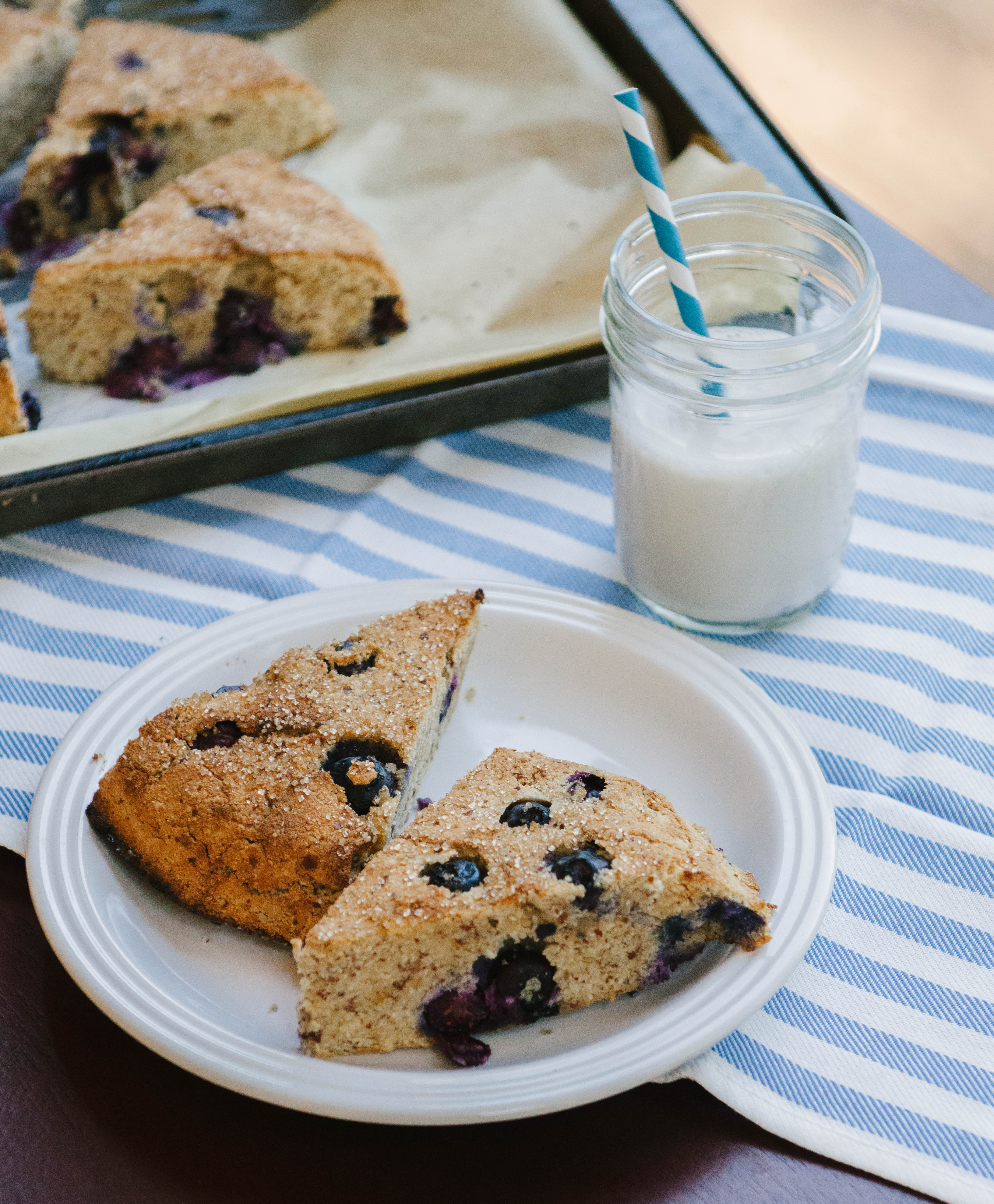 Grain-Free Lemon & Blueberry Scones