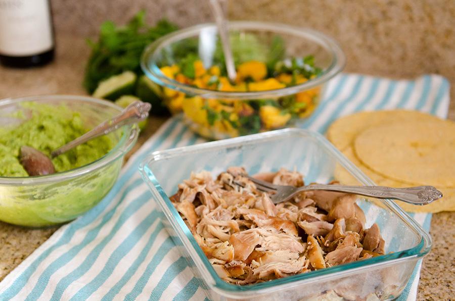 Crock-Pot Kalua Chicken Tacos with Chili Lime Mango Salsa!   soletshangout.com  #glutenfree #cincodemayo #taco #hawaiian #paleo #primal