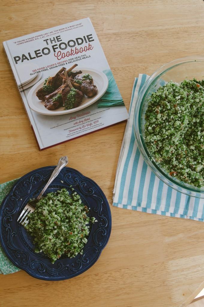 Cauliflower Tabbouleh + The Paleo Foodie Cookbook GIVEAWAY!