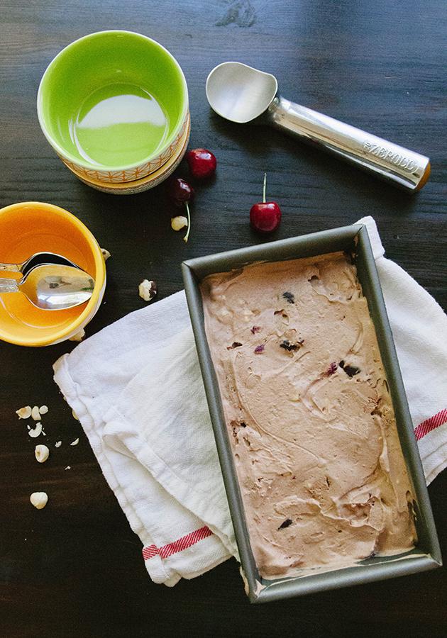 Dairy-Free Chocolate Cherry Roasted Hazelnut Ice Cream + Honest Whole 30 Recap, Week Four   soletshangout.com