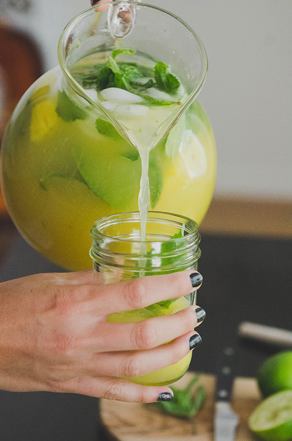 Herbed Pineapple Limeade with Basil & Mint