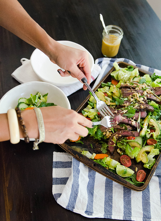 Grilled Thai Beef Salad with Sesame Lime Dressing