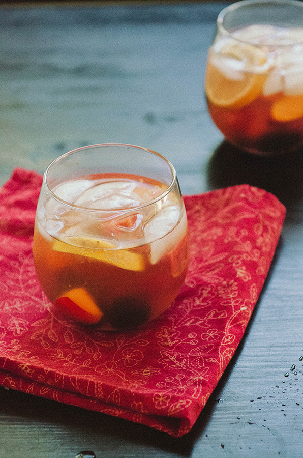 Stone Fruit, Sweet Tea & Blackberry Sangria | soletshangout.com # ...
