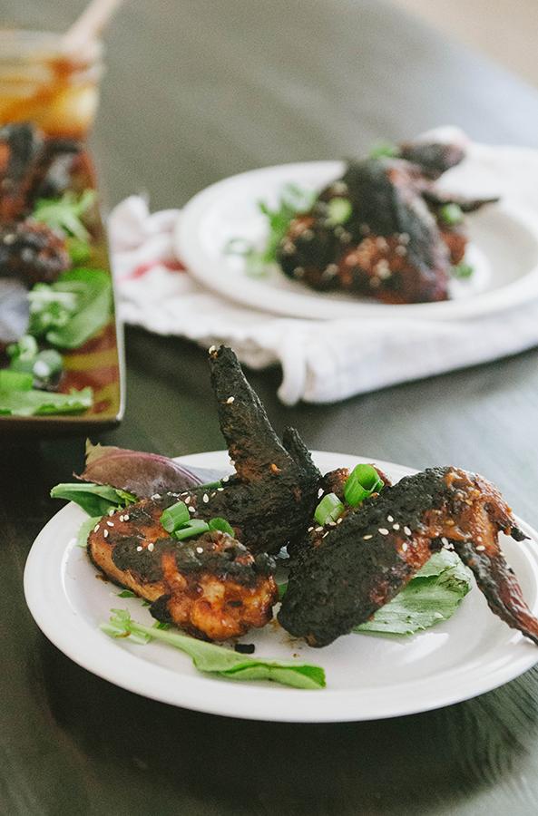 Sticky BBQ Korean Chicken Wings   Soletshangout.com