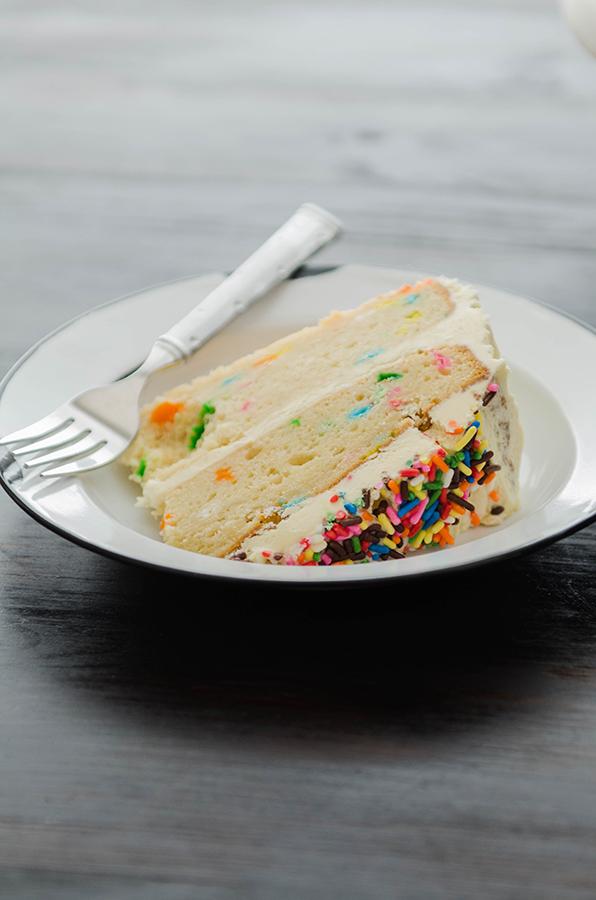 #Glutenfree Funfetti Cake with Buttercream Frosting