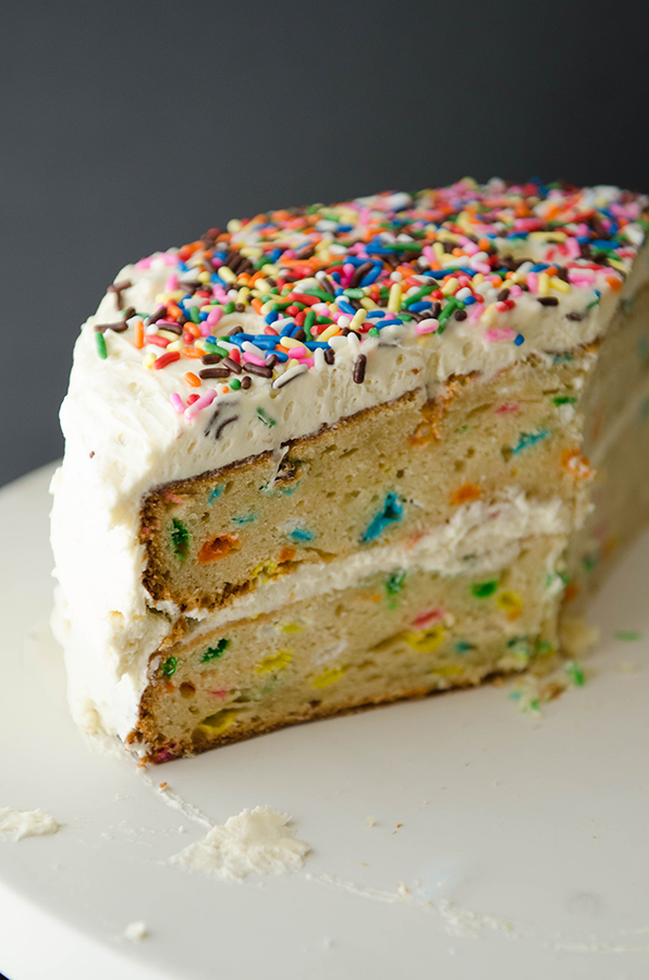 #Glutenfree Funfetti Cake with Buttercream Frosting