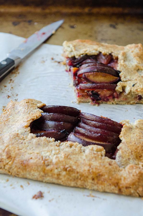 #GrainFree Cardamon Spiced Plum Galette + The Zenbelly Cookbook #Giveaway! #paleo #primal #glutenfree #cookbook #giveaway