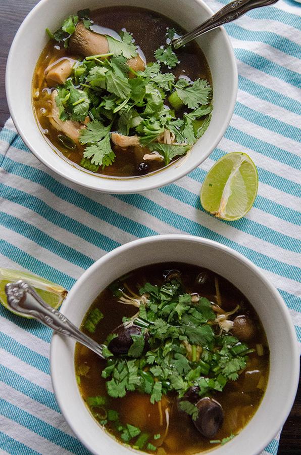 Slow Cooker Turkey Mushroom Soup With Ginger Kombu