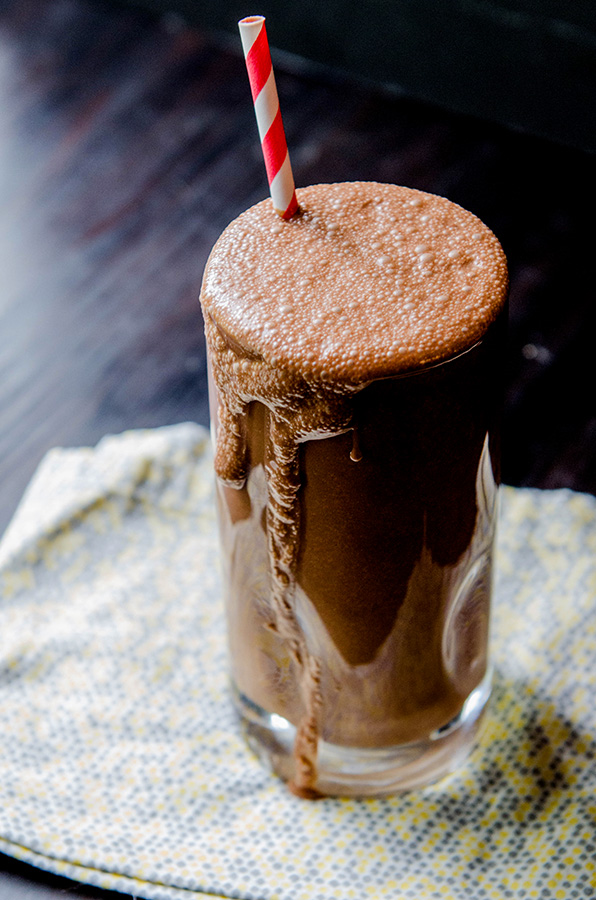 Chocolate Sunshake + Slaying An Anxiety Dragon // soletshangout.com #smoothie #paleo #glutenfree #vegan #anxiety #sunbutter