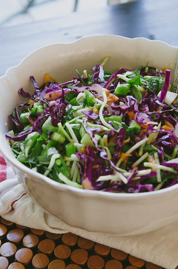 Veggie Lover's Easy Asian Slaw With Sesame Dressing by @SoLetsHangOut // www.soletshangout,com #salad #healthy #glutenfree #paleo #primal #vegan #slaw #asian #sesame