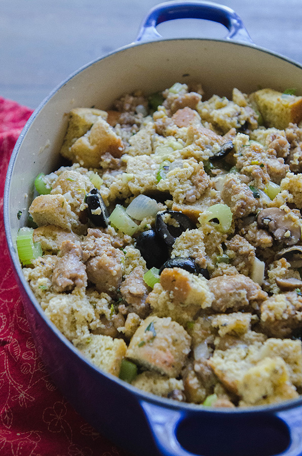 Papa Lou's Famous Italian Stuffing {Grain-Free + Gluten-Free} by @SoLetsHangOut #glutenfree #grainfree #paleo #thanksgiving #Stuffing #dressing #sausage #lowcarb